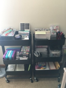 IKEA carts: mail out stuff, planner stuff, order forms
